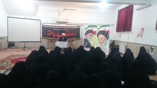 جلسه اخلاق  با هدف آشنایی با مباحث اخلاقی در مدرسه علمیه خواهران الزهرا(س) شهرستان گراش