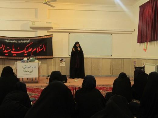 برگزاری دوره آموزشی فن خطابه در مدرسه علمیه خواهران الزهراء (س) گراش