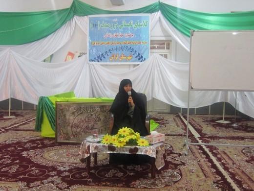 کلاسهای دُرّ و صدف با موضوع شیوههای ایجاد امید در زندگی در مدرسه علمیه الزهرا(س) شهرستان گراش